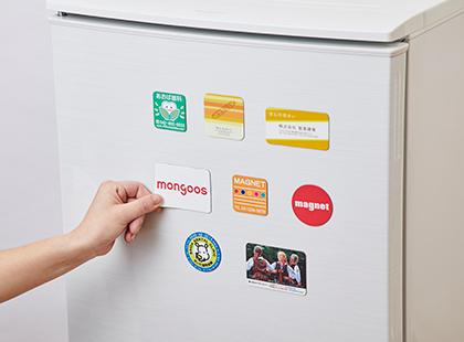 冷蔵庫にシートマグネット貼り付け