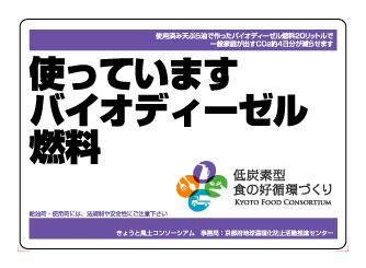 京都地球温暖化防止府民会議様お車用マグネット作例1