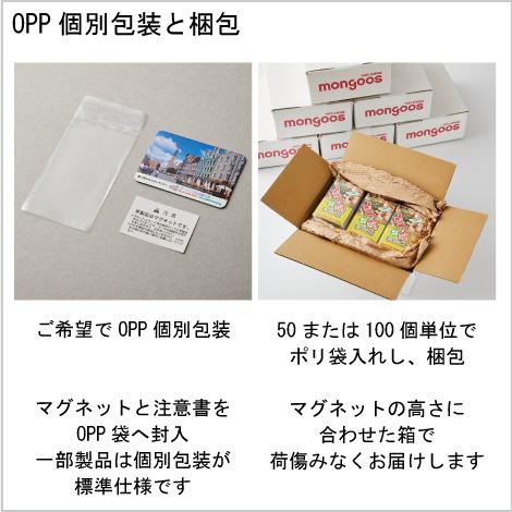 個別包装と梱包 説明画像